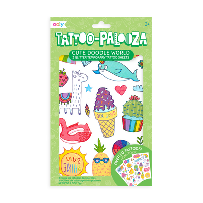 Ooly Tattoo Palooza Temporary Tattoos - Cute Doodle World