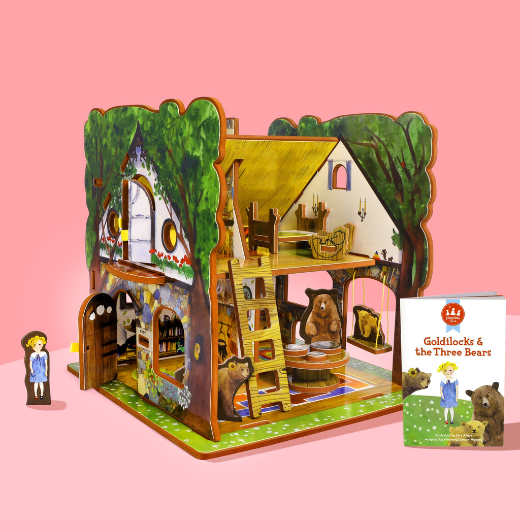 Storytime Toys Goldilocks and the Three Bears Book & Playhouse