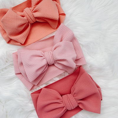 sugar + maple headwrap bow