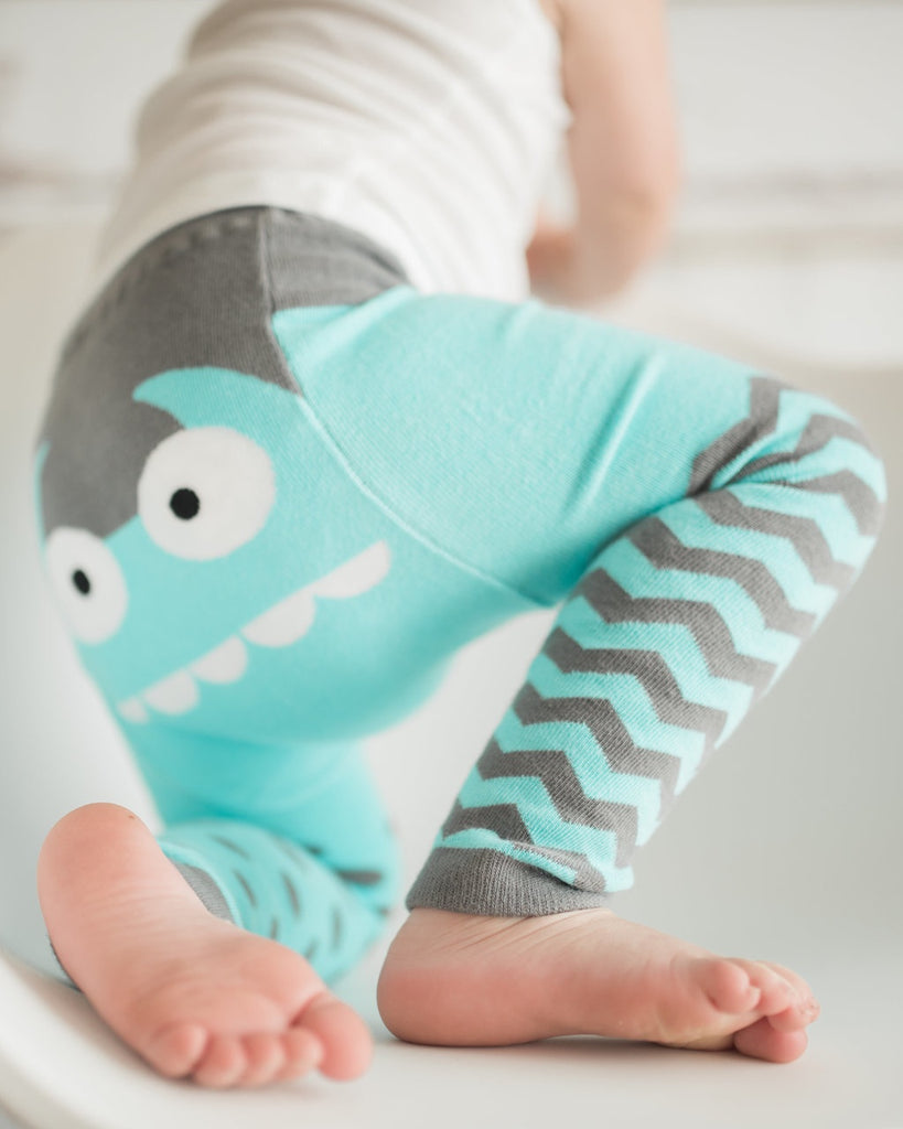 Doodle Pants - Organic Blue Monster