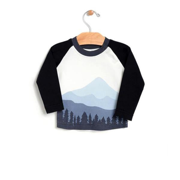 City Mouse - Mountain Raglan Blue