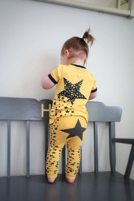 Doodle Pants - Yellow Star