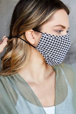 Checkered Plaid Reusable Cotton Face Mask