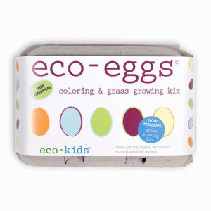 eco-kids eco-eggs coloring & grass growing kit