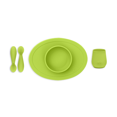 ezpz First Foods  Set / Silicone Spoon, Bowl and Cup