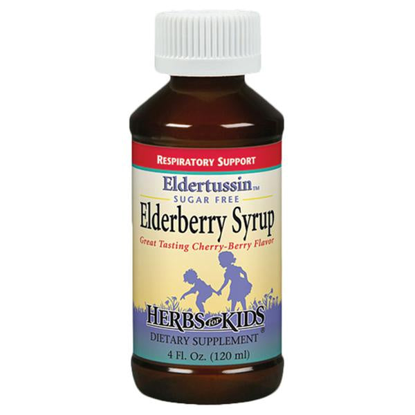 Herbs for Kids Eldertussin Elderberry Syrup (Honey Free)