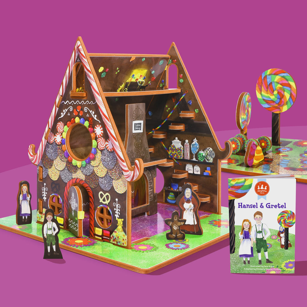 Storytime Toys Hansel and Gretel Book & Playhouse