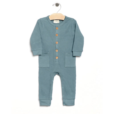 City Mouse - Lake Waffle Button Romper