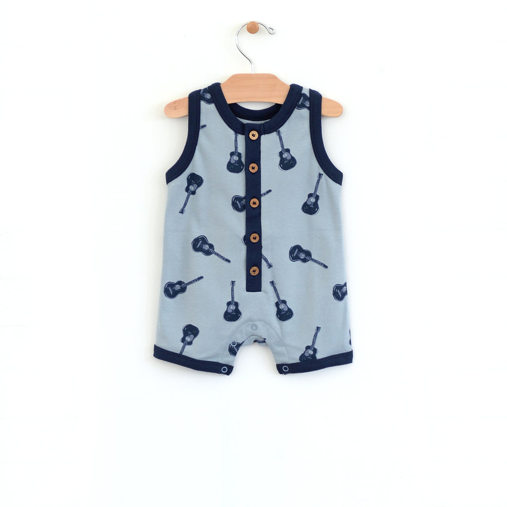 City Mouse - Guitars Muscle Tank Romper