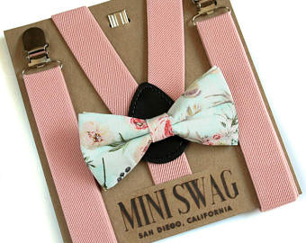 Mini Swag Suspenders & Bow Tie Set