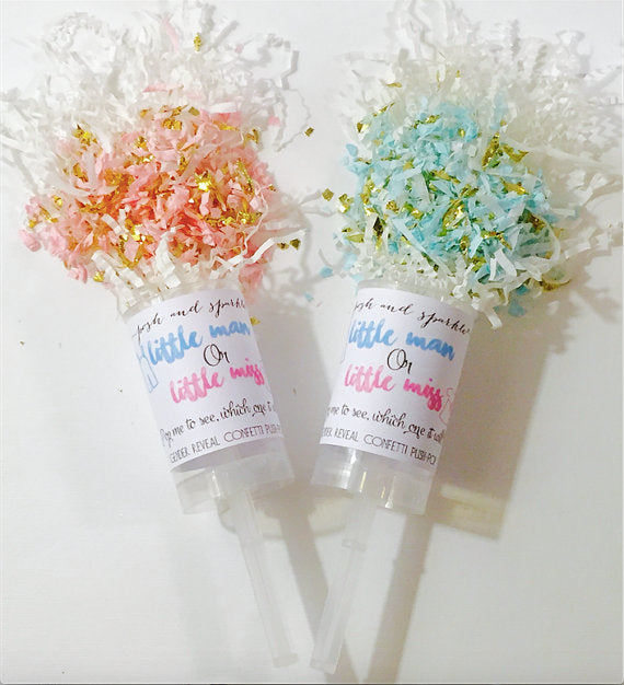 Gender Reveal Confetti Push Pop