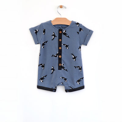 City Mouse - Orca Roll Sleeve Romper