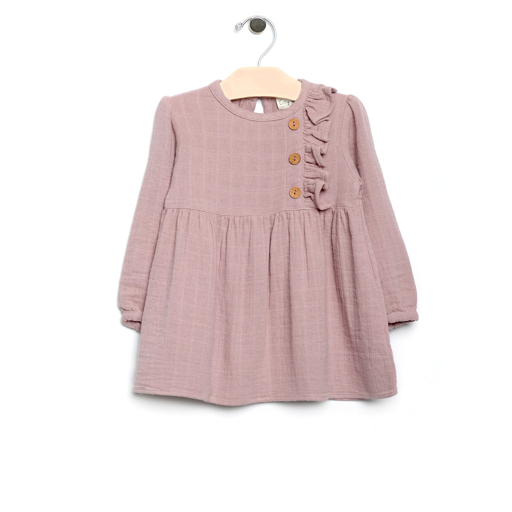 City Mouse - Muslin Side Button Dress
