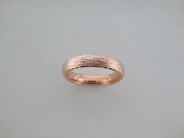 4mm HAMMERED Rose Gold* Tungsten Carbide Unisex Band