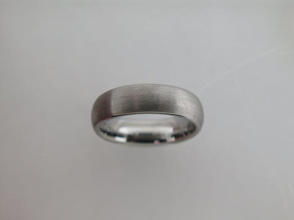 6mm Brushed Silver* Tungsten Carbide Unisex Band