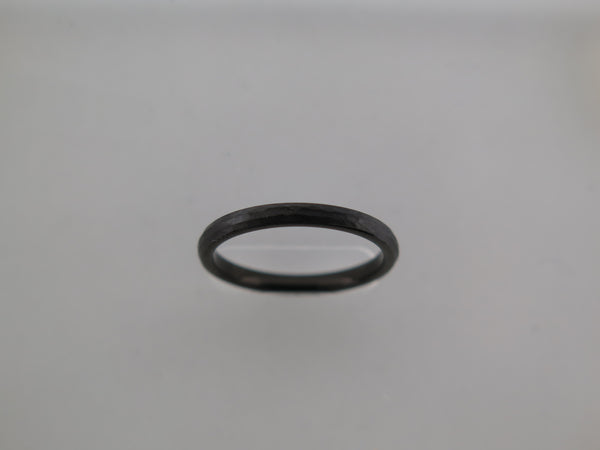 2mm Hammered Black Brushed Tungsten Carbide Unisex Band