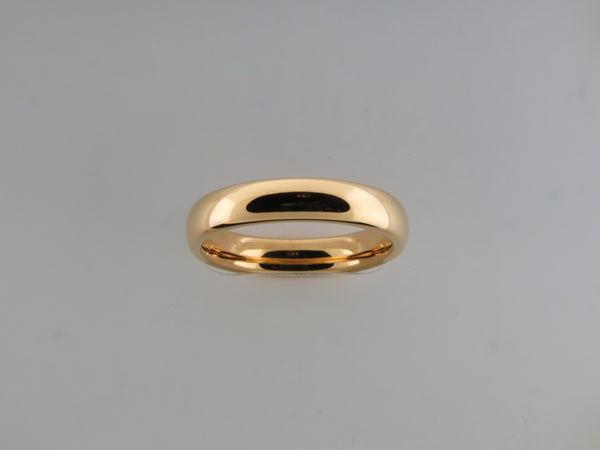 4mm High POLISHED Yellow Gold* Tungsten Carbide Unisex Band