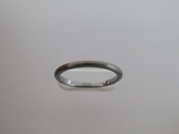 2mm Brushed Gun Metal Tungsten Carbide Unisex Band