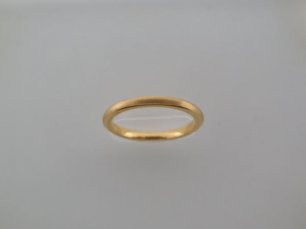 2mm BRUSHED Yellow Gold* Tungsten Carbide Unisex Band