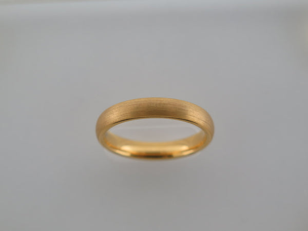 4mm Brushed Yellow Gold* Tungsten Carbide Unisex Band