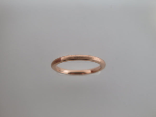 2mm BRUSHED Rose Gold* Tungsten Carbide Unisex Band