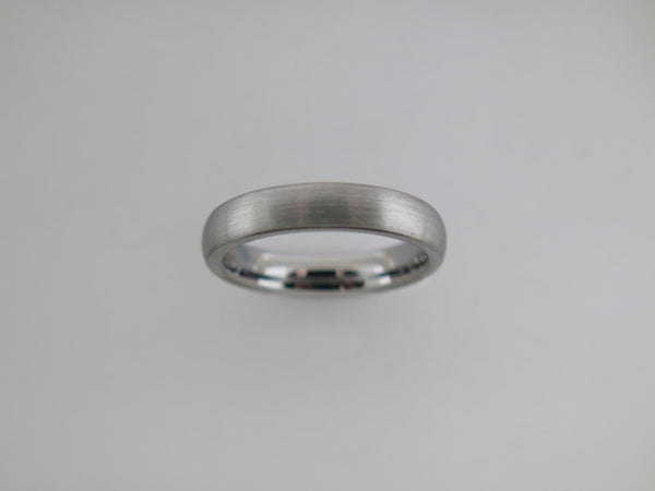 4mm Brushed Gun Metal Tungsten Carbide Unisex Band