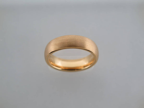 6mm Brushed Yellow Gold* Tungsten Carbide Unisex Band
