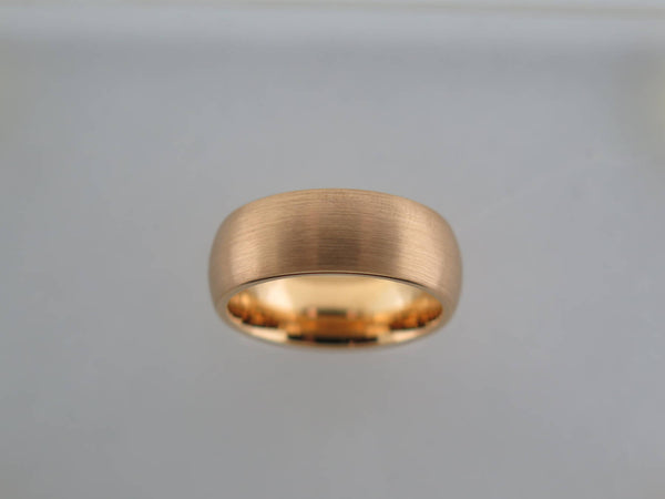 8mm Brushed Yellow Gold* Tungsten Carbide unisex band