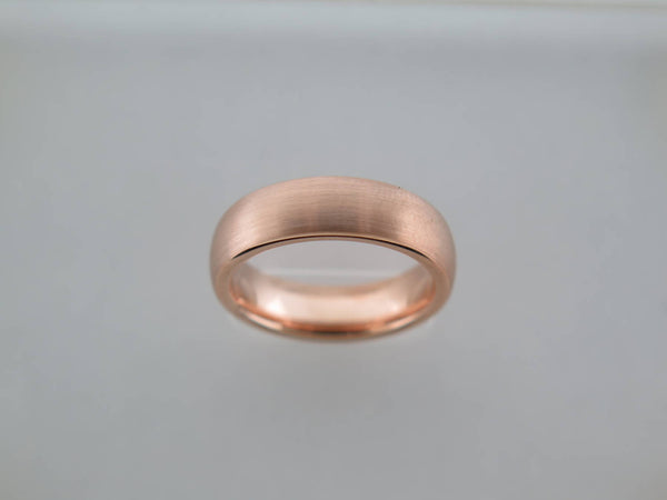 6mm BRUSHED Rose Gold* Tungsten Carbide Unisex Band