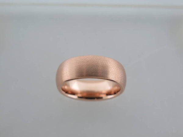 8mm BRUSHED Rose Gold* Tungsten Carbide Unisex Band