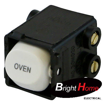 "BHE35A-OVEN-W, Switch Module, 35A, 250Vac, Printed ""OVEN"" - White"