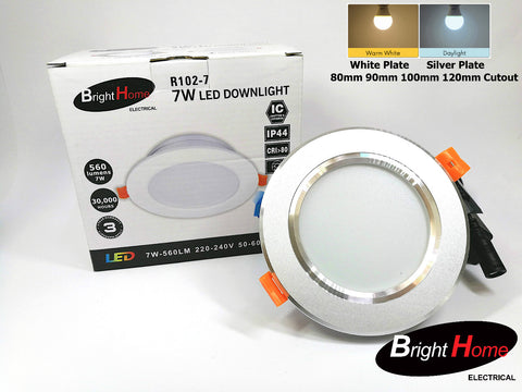 Recessed Down Lights R102-7 7w 80mm / 100mm cutout