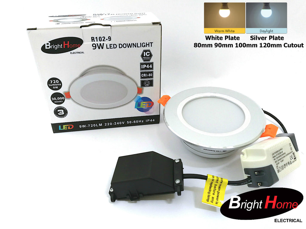 Recessed Down Lights R102-9 9W 100mm / 120mm