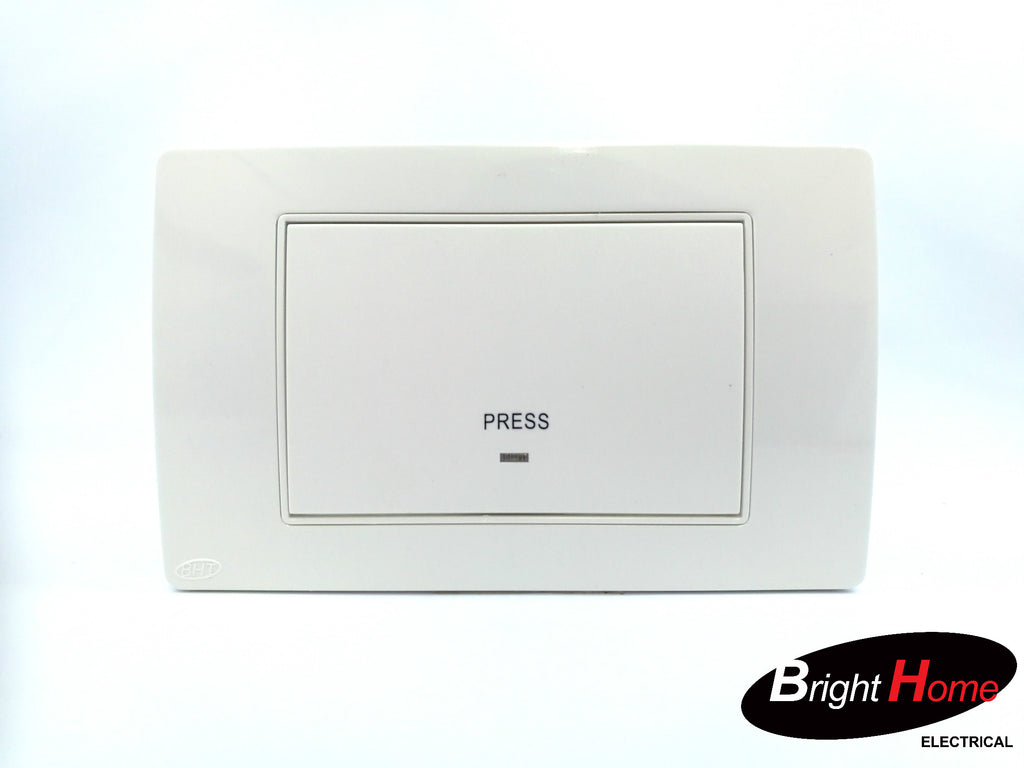 Press Switch, white, TPRESS-W, Titan series