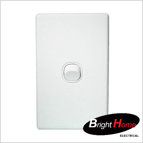 WS1-W, 1 Gang Switch, 16A, 250Vac, White