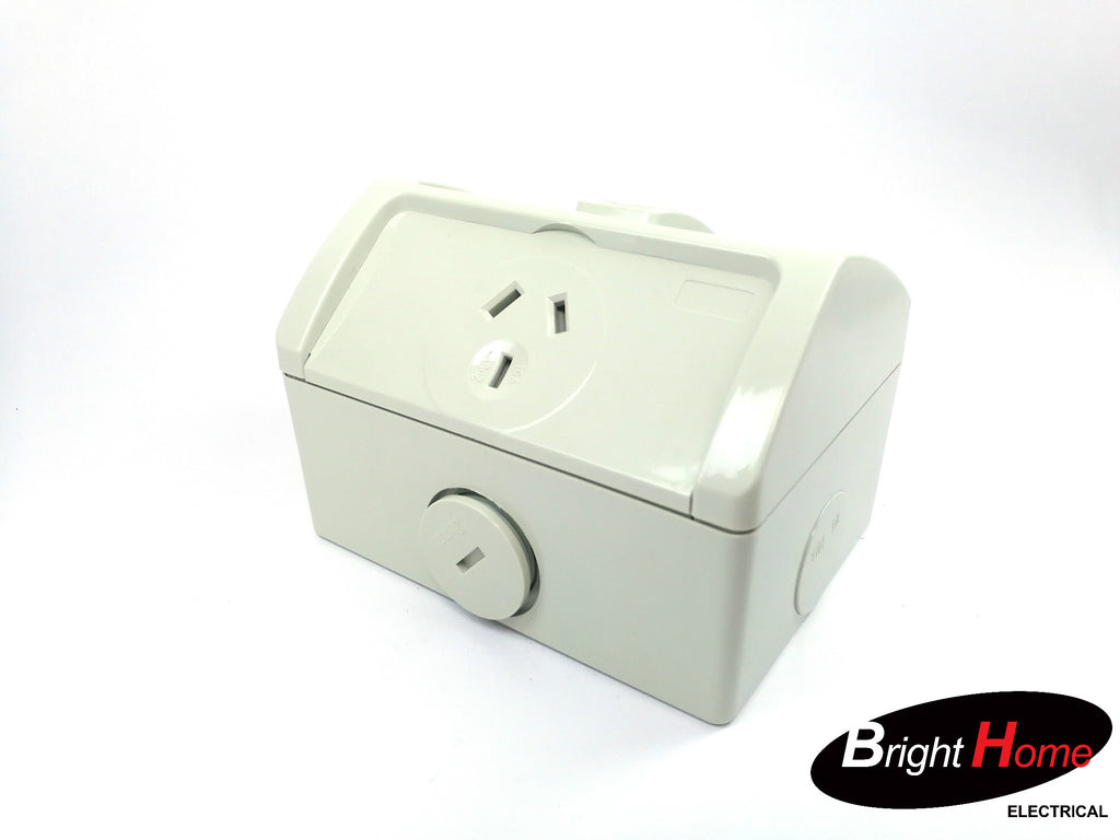 Single Water-proof Power Point 10a IP53 WPS1