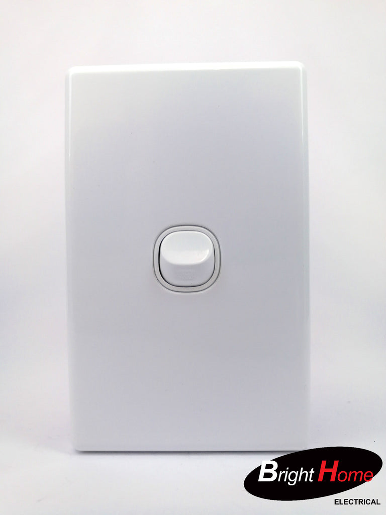 Slim series  1 Gang Switch, 16A, 250Vac, White  sws1-w