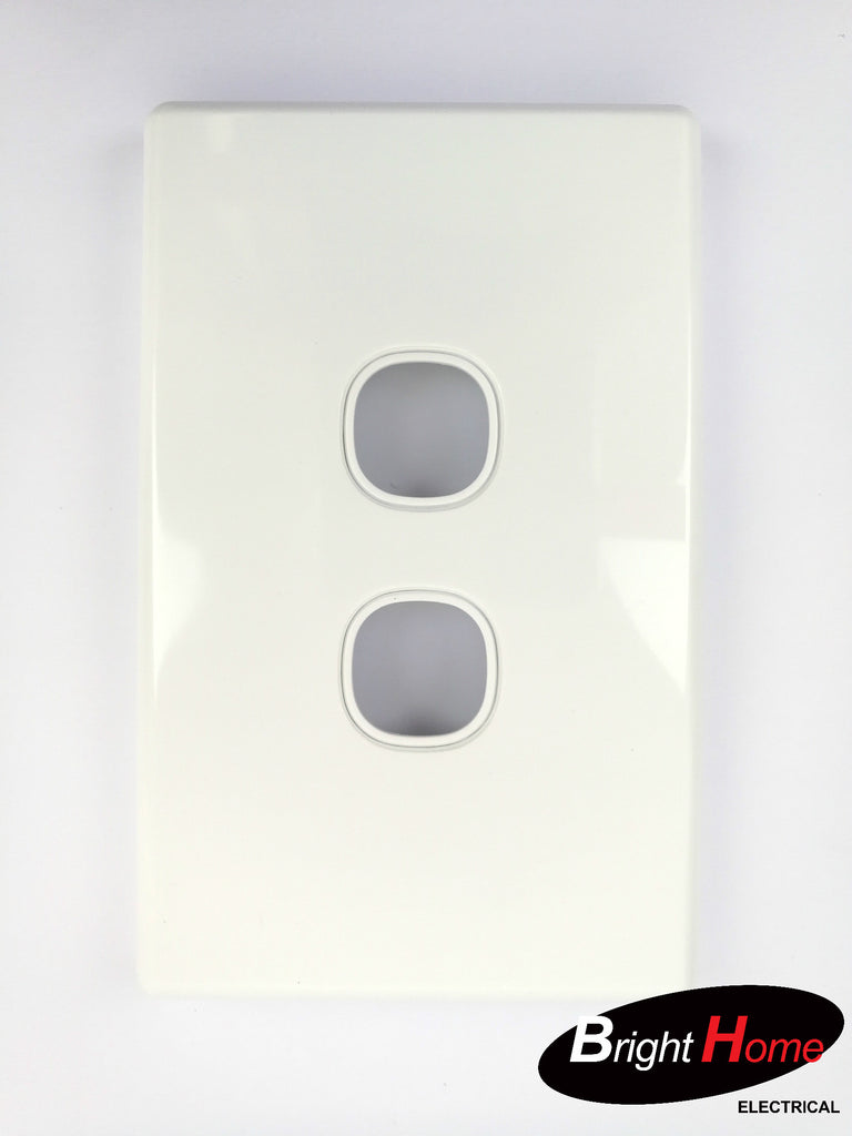 WS2LM-W 2 Gang Switch Panel White