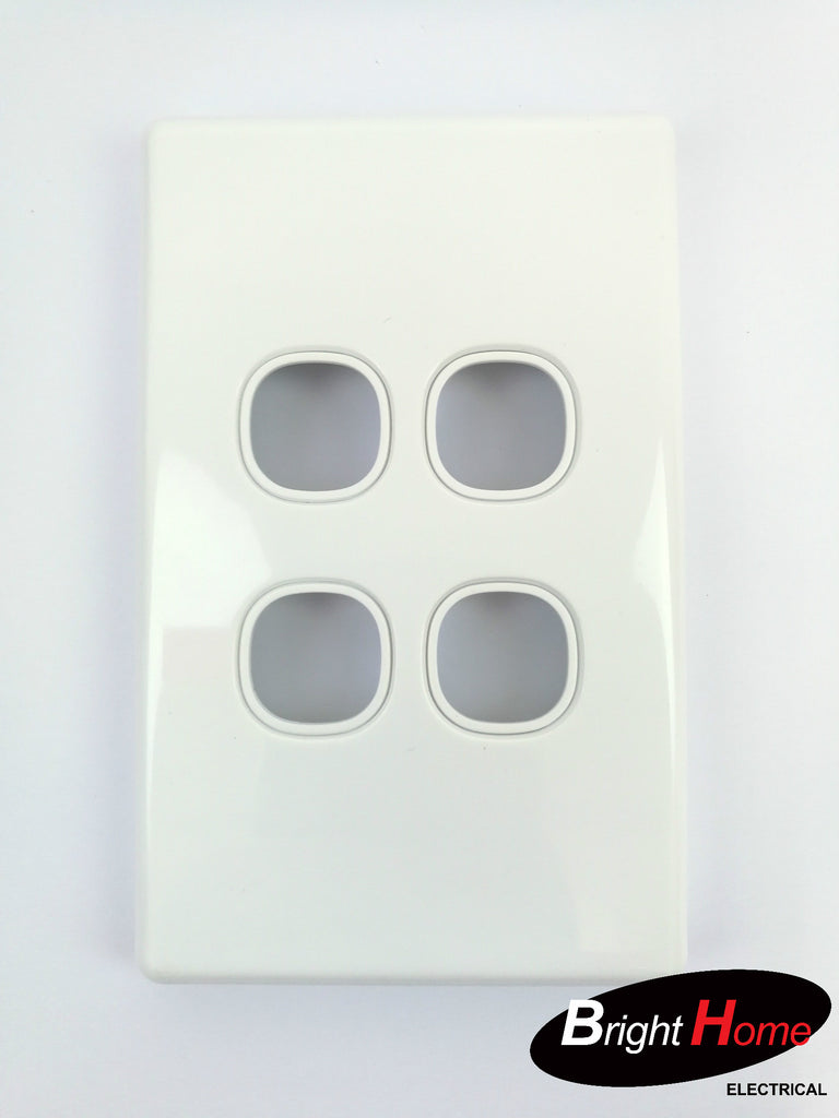 WS4LM-W 4 Gang Switch Panel White