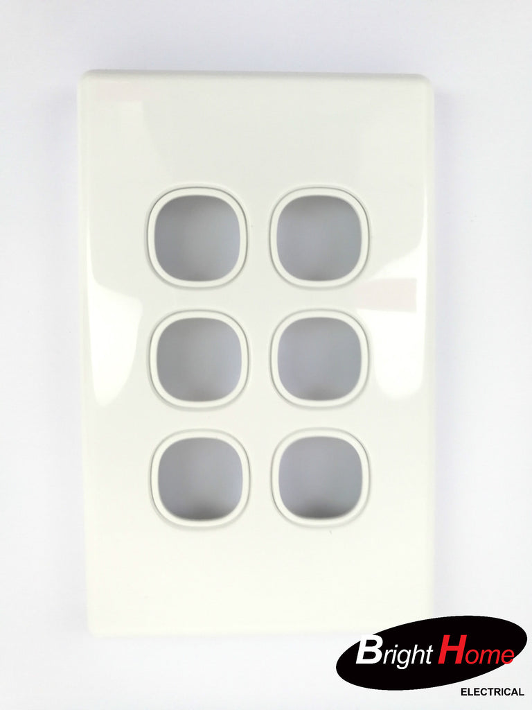 WS6LM-W 6 Gang Switch Panel White
