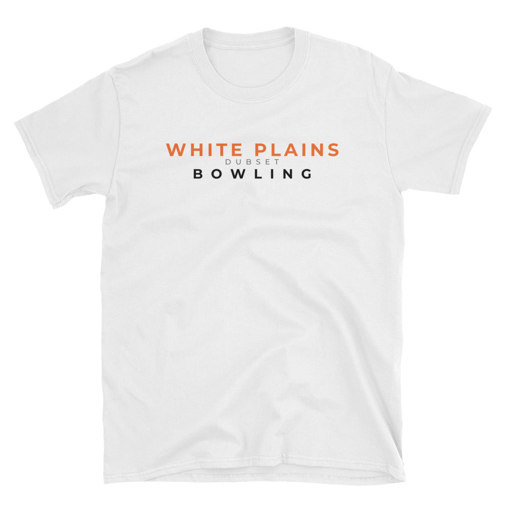 White Plains Bowling Short-Sleeve White T-Shirt