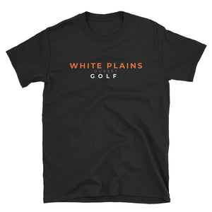 White Plains Golf Short-Sleeve Black T-Shirt