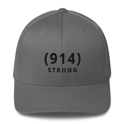 (914) STRONG Grey Structured Twill Cap: 100% TO CAUSE