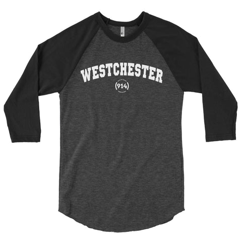 Signature Westchester Grey & Black 3/4 Sleeve T-Shirt