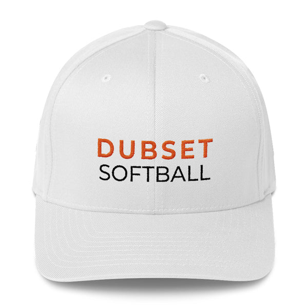 Dubset Softball White Cap