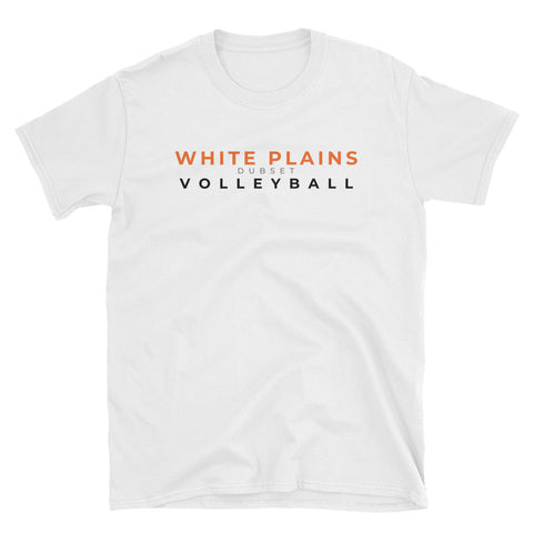 White Plains Volleyball Short-Sleeve White T-Shirt