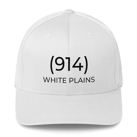 (914) White Plains White & Black Cap