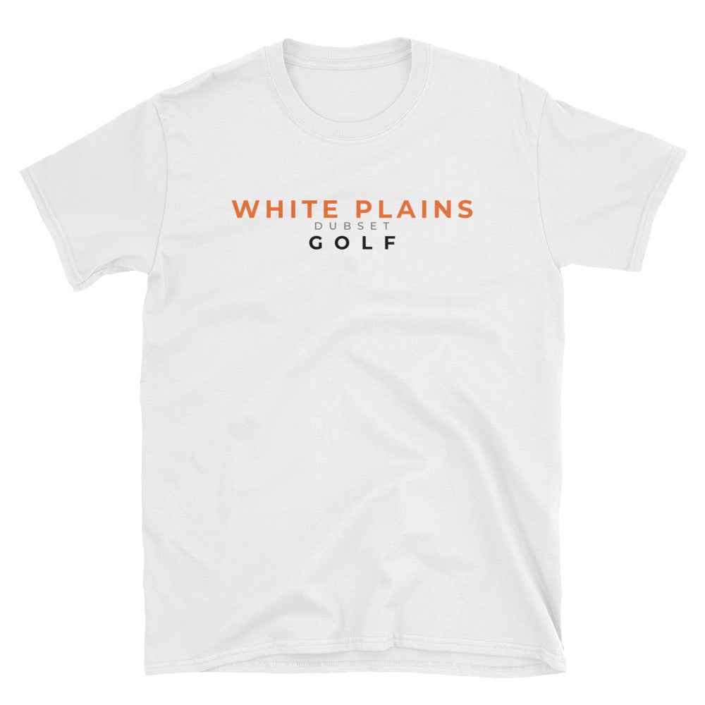 White Plains Golf Short-Sleeve White T-Shirt