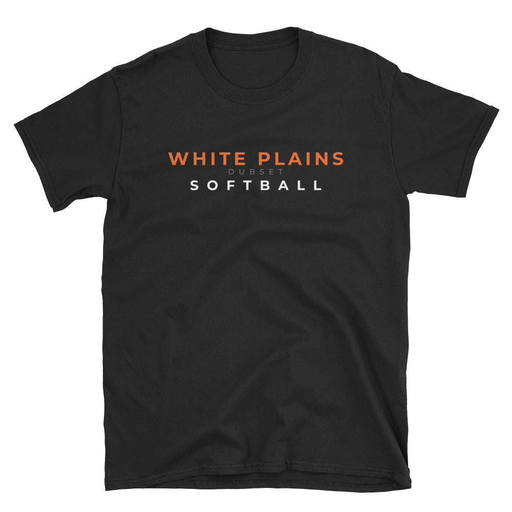 White Plains Softball Short-Sleeve Black T-Shirt