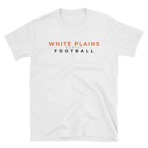 White Plains Football Short-Sleeve White T-Shirt